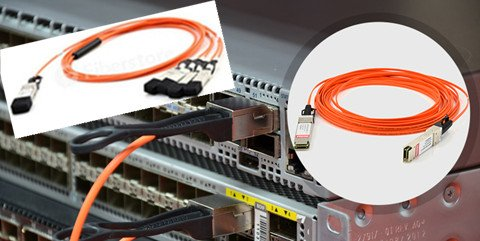 40G Attached optical fiber cable
