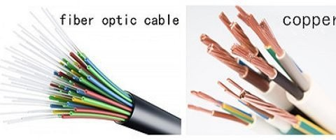 Copper and fiber-optic-cable
