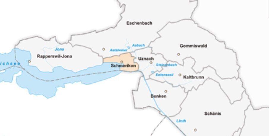 Map of Schmerikon