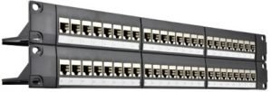"48-Ports-ShieldedSTP-Cat6-Feed-Through-2U-19""-Gigabit-Ethernet-Patch-Panel"
