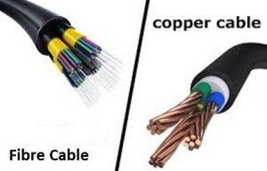 fiber optic or copper cable