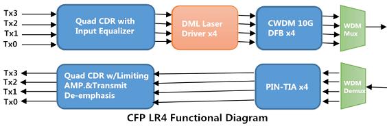100G Transceiver: 100G SR10 or 100G LR4 CFP modules 3
