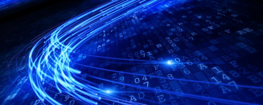 light signal over alphanumeric characters