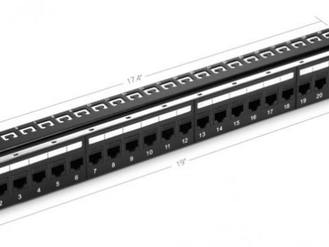 Cat6 Patch Panel: used for Cat6 cable management
