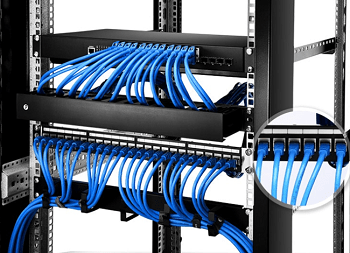 Copper cable patch panel