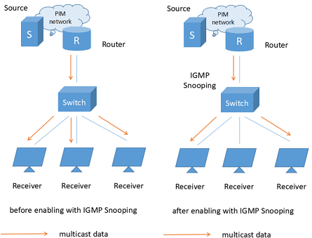 IGMP snooping model diagram
