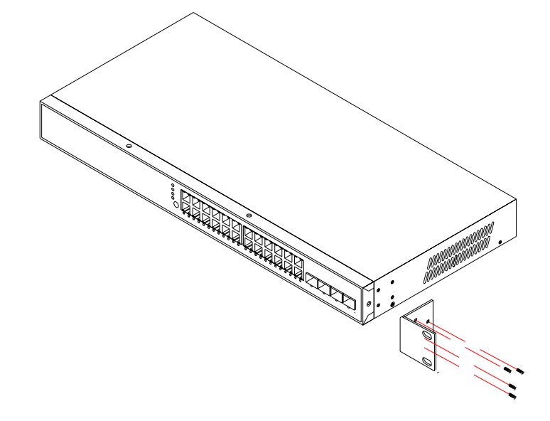 how to mount a network switch to a rack