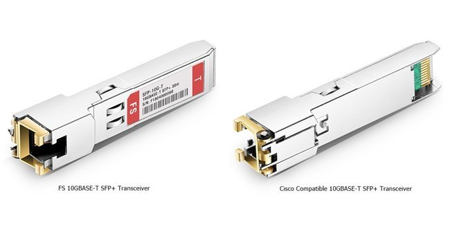 photos of 10GBASE -T transceivers