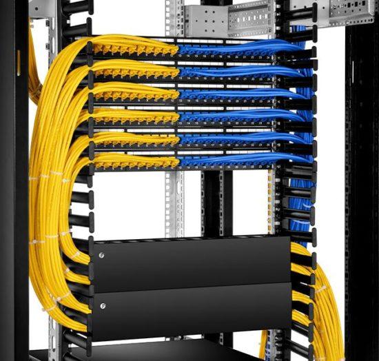 Ethernet Cable Management Solutions - Fiber Optic Social Network on