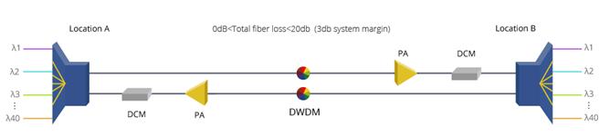 80km DWDM Network