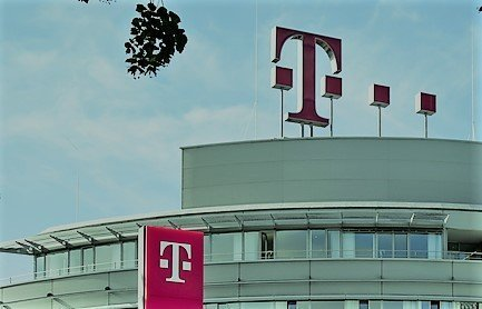 Deutsche Telekom office showing symbol T