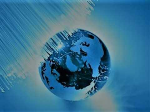 globe with fiber optics
