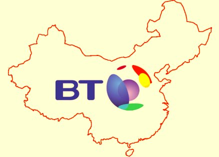 British Telecom's Symbol in China map
