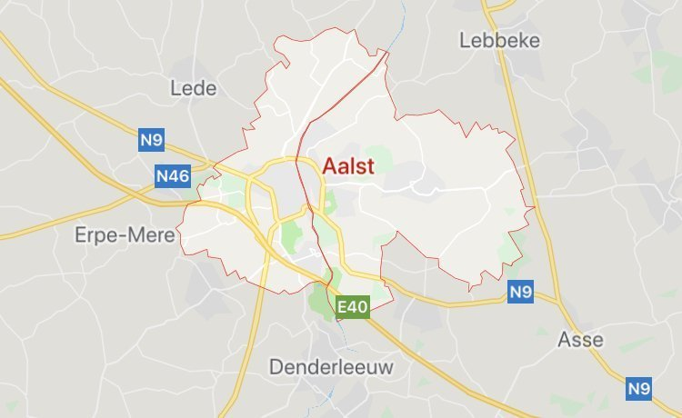 City of Aalst in Belgium