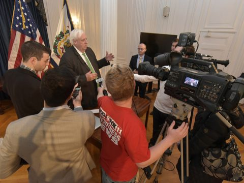 Governor Jim Justice explains facebook fiber optic project