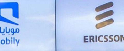 logos of Mobily and Ericsson